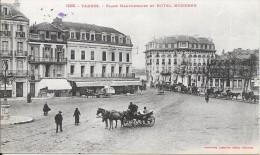 TARBES - 65 -  La Cathédrale Coté Ouest - ENCH -Place Maubourguet Et Hotel Moderne - ENCH1202 - - Tarbes
