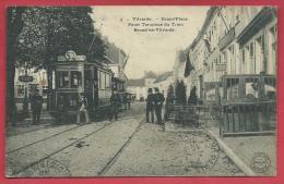 Vilvoorde - Top Kaart - Tram 53 - Pont Terminus Du Tram Bruxelles-Vilvorde - 1914 ( Verso Zien ) - Vilvoorde
