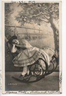ENFANT . PORTRAIT DE FILLETTE . ROCKING-CHAIR  - Réf. N°14604 - - Portraits
