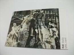 GIAN LORENZO BERNINI FONTANA DEI 4 FIUMI  ROMA PIAZZA NAVONA PARTICOLARE RAI ITALIA QLS CARD RADIO ROMA ESPERANTO - Monuments