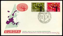 37538) Belgien - Michel 1282 / 1283 - FDC - CEPT 62 - FDC