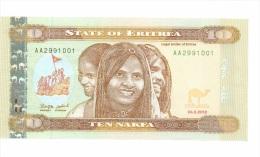 Eritree 10 Nakfa 2012 NEUF - Eritrea