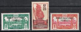GABON N°116 A 117 N* - Unused Stamps