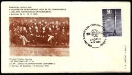 Yugoslavia Zagreb 1965 / Phila Exhibition The Centenary Of ITU And The Jubilee Plenipotentiary Conf Telecomunications - Esposizioni Filateliche