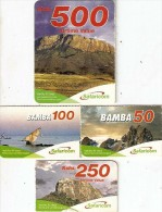 *KENIA* - Lotto Di 4 Mini Cards Usate Differenti - Kenya