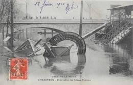 Crue De La Seine 1910 - Charenton - Débarcadère Des Bateaux Parisiens - Carte E.L.D. - Inondations