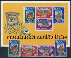 1978-MALAWI-W.W.F.-3 VAL.+ S.S.- M.N.H. LUXE !! - Malawi (1964-...)