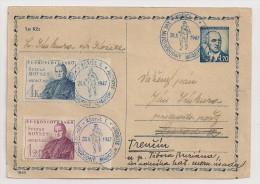 Czechoslovakia, 1947, Kosice, XVII Marathon International De La Liberté, Oblitération Spéciale Sur Carte Postale, 26-10 - Atletica
