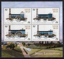 NEVIS 2014 - Locomotives Classiques à Vapeur -  BF 4 Val II Neufs // Mnh - St.Kitts Y Nevis ( 1983-...)