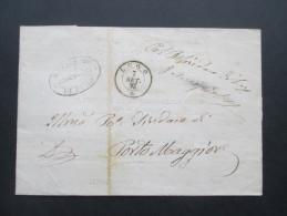 Italien 1871 Notificazione Di Cambiamento Di Residenza No 95. Municipio Sezione Statistica Di Lugo. Viele Stempel - Dienstpost