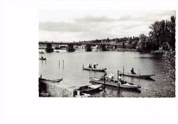 91 - RIS-ORANGIS (S.-et-O.) - Bords De Seine - Ed. Cim Combier - 1951 - Animation Barques Pecheurs - Ris Orangis