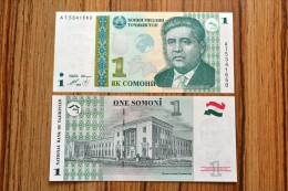 Tajikistan 1 Somoni 1999 Edition . P-14 A .UNC. 1PCS - Tajikistan