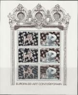 """MONACO Block 59(3x2120-1C) """"EUROPA Zeitgenössische Kunst"""" MNH / ** / Postfrisch - Blocks & Kleinbögen"""