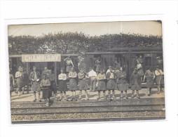 94 - Carte Photo CHAMPIGNY :  Groupe D´Ecossais En Gare De Champigny - Champigny Sur Marne