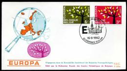 37547) Belgien - Michel 1282 / 1283 - FDC - CEPT62 - FDC