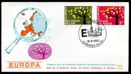 37548) Belgien - Michel 1282 / 1283 - FDC - CEPT62 - FDC