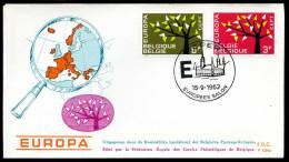 37549) Belgien - Michel 1282 / 1283 - FDC - CEPT62 - FDC