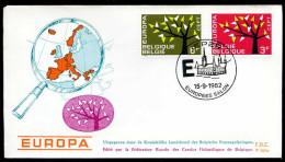 37550) Belgien - Michel 1282 / 1283 - FDC - CEPT62 - FDC