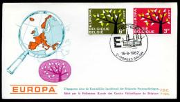 37551) Belgien - Michel 1282 / 1283 - FDC - CEPT62 - FDC