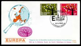 37552) Belgien - Michel 1282 / 1283 - FDC - CEPT62 - FDC