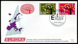 37553) Belgien - Michel 1282 / 1283 - FDC - CEPT62 - FDC
