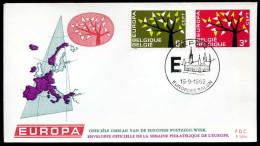 37554) Belgien - Michel 1282 / 1283 - FDC - CEPT62 - FDC