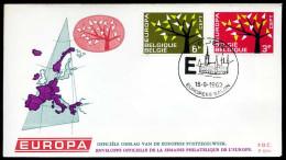 37555) Belgien - Michel 1282 / 1283 - FDC - CEPT62 - FDC