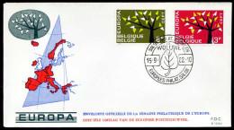 37556) Belgien - Michel 1282 / 1283 - FDC - CEPT62 - FDC