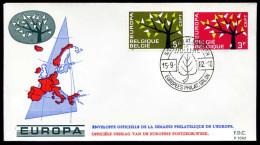 37557) Belgien - Michel 1282 / 1283 - FDC - CEPT62 - FDC