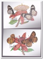 Maldiven 1991, Postfris MNH, Flowers, Butterflies - Maldiven (1965-...)