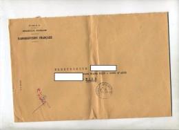 Lettre Franchise Cachet Marseille  Entete Radiodiffusion France - Marcophilie (Lettres)