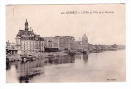 91 Corbeil Hotel De Ville Et Les Moulins Cachet 1927 - Corbeil Essonnes