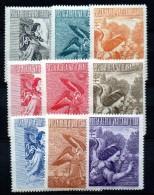 1956 Vaticano Arcangelo Gabriele N. 24-32 INTEGRA MNH** - Luftpost
