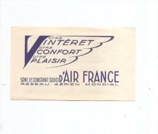 Avions -Air France ( Carnet De 4 Timbres Privés XXX -MNH- De France De 1925 - Superbe) - Flugzeuge