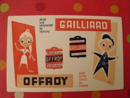Buvard Gailliard Offroy. Vêtements De Travail. Linge De Maison. Vers 1950. - Buvards, Protège-cahiers Illustrés
