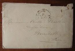 Lettre De 1879 Pour Noirétable (Loire), Postée Dans L' Yonne à Monsieur Vialle, Marques Postales - Manuscrits