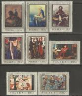 Poland 1968 Mi# 1864-1871 ** MNH - Polish Paintings - Ongebruikt
