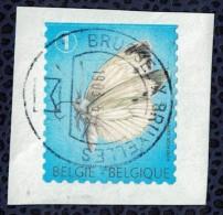 Belgique 2012 Oblitéré Rond Used Papillon Pieris Brassicae Piéride Du Chou SU - België