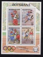 BOTSWANA, 1992, Mint Hinged Block Of Stamps , Olympic Games,  Block Nr. 25 , #972 - Botswana (1966-...)