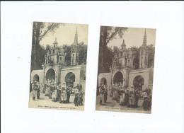Mariage Breton 2 Cartes Sortie De L' Eglise 3713 Coll Hamonic 1 Carte écrite En 1924, L'autre Est Vierge - Noces