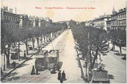 30. NIMES. Avenue Feuchères. Perspective Prise De La Gare. 35 (2) - Nîmes