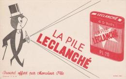Buvard - Pile LECLANCHE - Piles