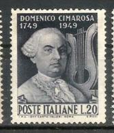 1949 ALFIERI     Italia  Serie Completa Nuova    ** MNH - 6. 1946-.. Repubblica