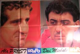 POSTER    ROMBO-AUTOSPORT  - MICHELE ALBORETO - ALAIN PROST - Posters