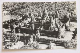 Aerial View, Angkor, Cambodia, 1968, Real Photo Postcard RPPC - Cambodia