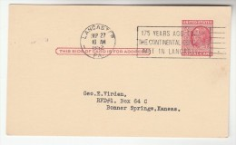 1952 USA Postal STATIONERY CARD  SLOGAN Pmk 175 YEARS AGO TODAY CONTINENTAL CONGRESS MET IN LANCASTER Cover Stamps - Ganzsachen