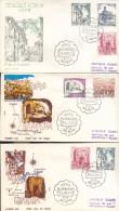 Año 1975  Edifil 2266-2267-2271-2269-2270 3 Sobres SPD  FDC  Turismo, Toledo, Granada - FDC