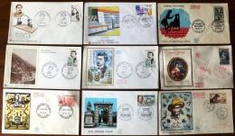 LOT 9 FDC- FRANCE- SELECTION 1956 A 1972-  TECNIQUES ET SERVICES- - FDC