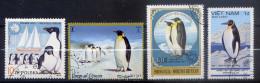Thème--Pingouins Et Manchots---Lot De  4 Timbres Différents  Oblitérés En Très Bon état - Penguins
