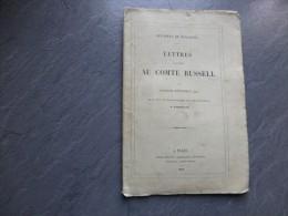 Affaires De Pologne, Lettres Au Comte Russell, Par Georges Mittchell, Sur Les événements De Varsovie, 1862 ; Ref C 27 - Livres, BD, Revues